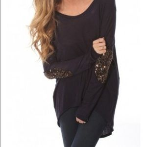 English Rose sweater with elbow sleeve detail